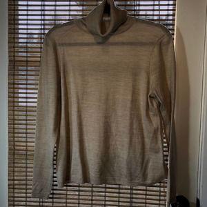Pendleton heather tan turtleneck sweater